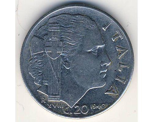 20 чентезимо 1940 год Италия