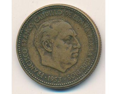 2,5 песет 1953 год Испания