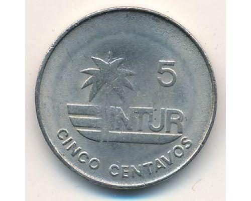 5 сентаво 1981 год Куба (номинал 5 справа от пальмы, немагнитная)