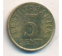 5 сентов 1992 год Эстония