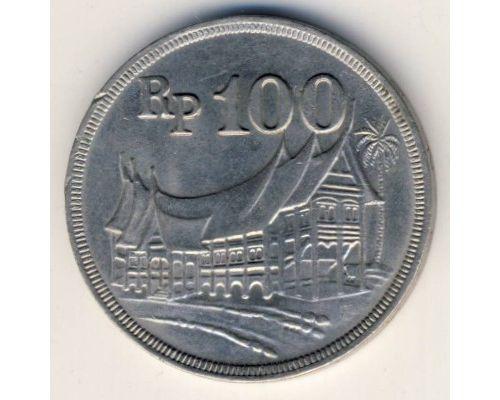 100 рупий 1973 год Индонезия Жилище Минангкабу