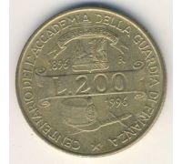 200 лир 1996 год Италия 100 лет Академии финансовой полиции