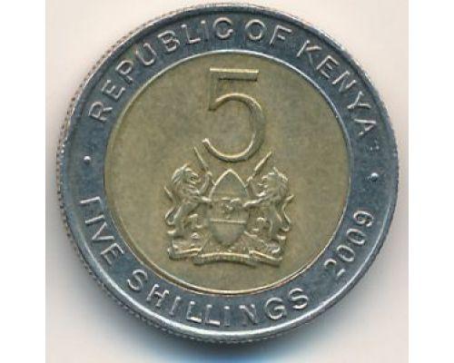 5 шиллингов 2009 год Кения