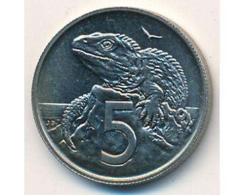 5 центов 1975 год Новая Зеландия