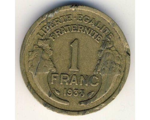 1 франк 1938 год Франция состояние VG