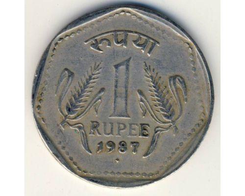 1 рупия 1987 год Индия