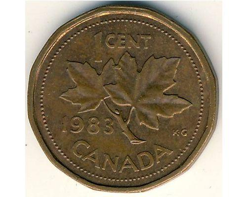 1 цент 1983 год Канада