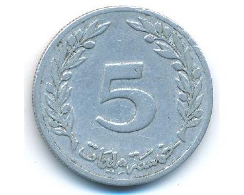 5 миллим 1983 год Тунис