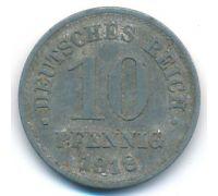 10 пфеннигов 1918 год Германия состояние VG