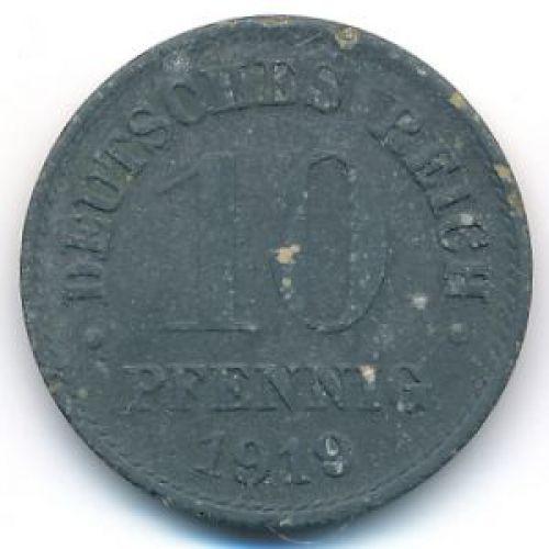 10 пфеннигов 1920 год Германия Состояние VG