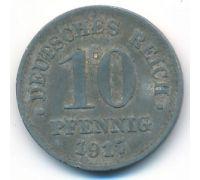 10 пфеннигов 1917 год Германия состояние VG