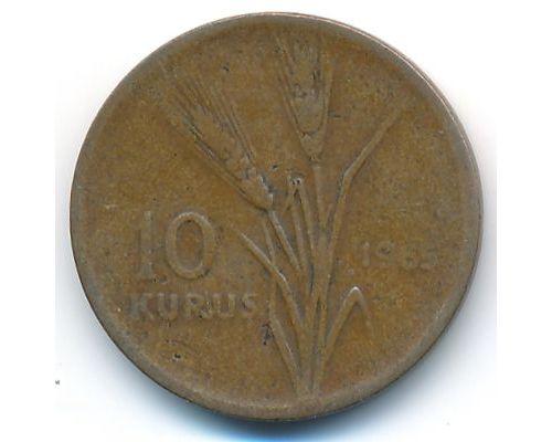 10 куруш 1965 год Турция Пшеница