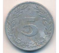 5 миллим 1960 год Тунис