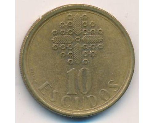 10 эскудо 1987 год Португалия