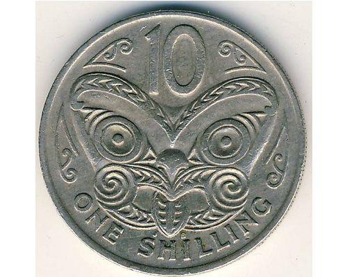 10 центов 1969 год Новая Зеландия