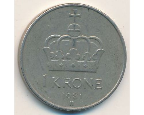 1 крона 1981 год Норвегия