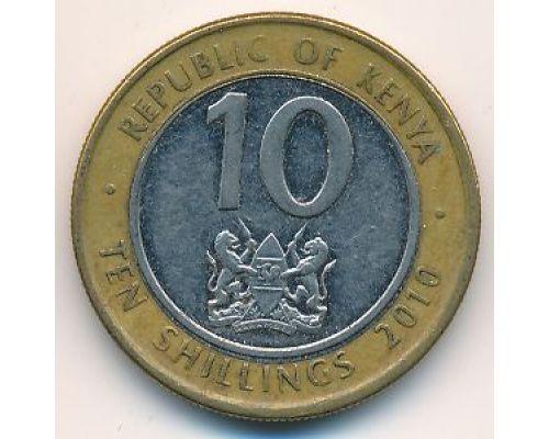 10 шиллингов 2010 год Кения
