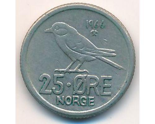 25 эре 1966 год Норвегия Птица