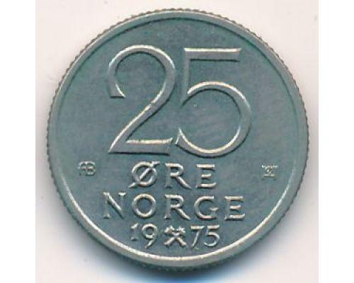 25 эре 1975 год Норвегия
