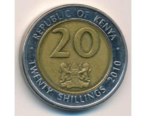 20 шиллингов 2010 год Кения