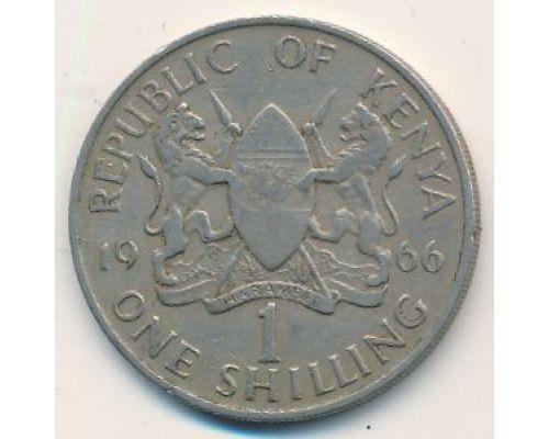 1 шиллинг 1966 год Кения Джомо Кениата