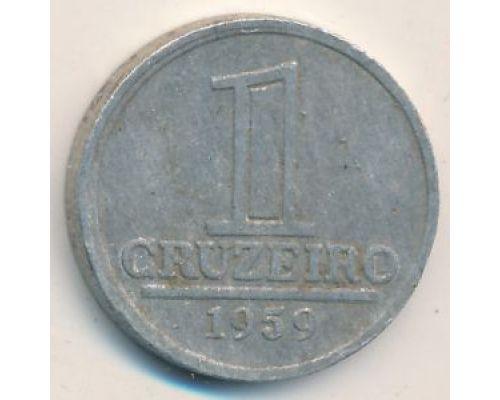 1 крузейро 1959 год Бразилия