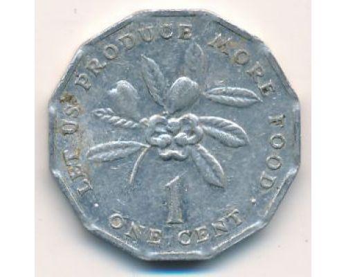 1 цент 1977 год Ямайка ФАО