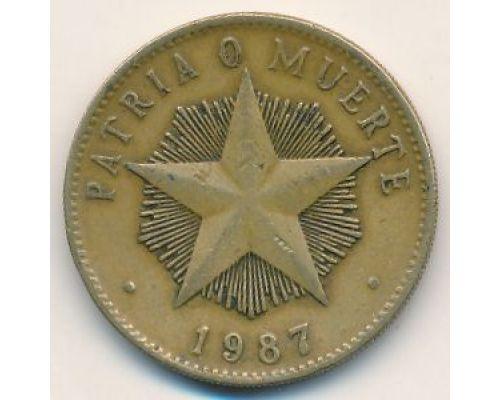1 песо 1987 год Куба