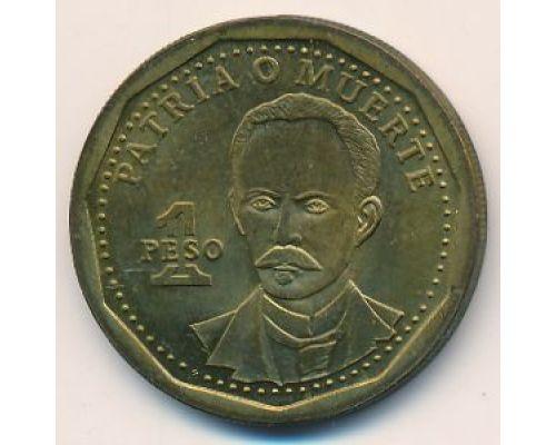 1 песо 2002 год Куба