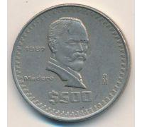 500 песо 1987 год Мексика Мадеро