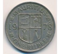 1 рупия 1978 год Маврикий Елизавета II