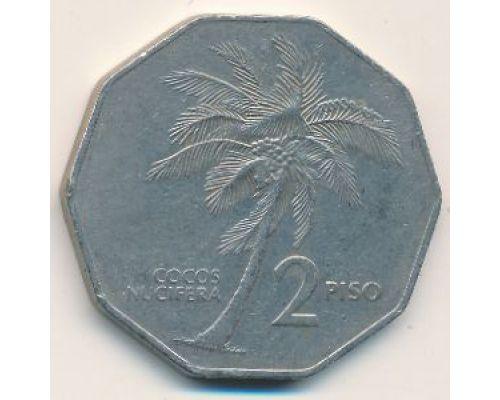 2 песо 1984 год Филиппины