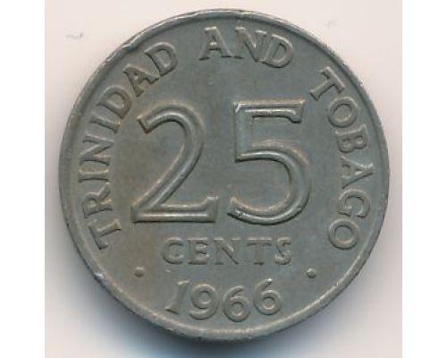 25 центов 1966 год Тринидад и Тобаго