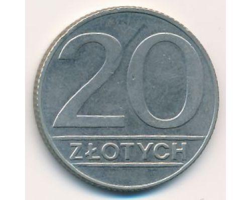 20 злотых 1990 год Польша