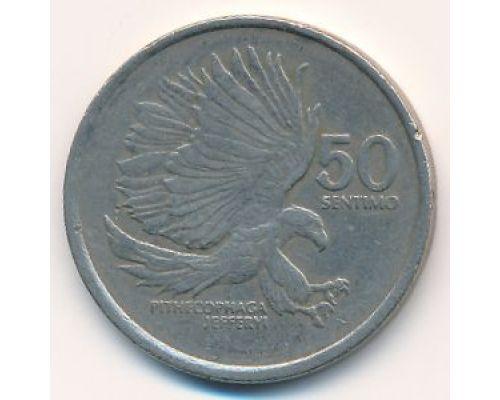 50 сентимо 1989 год Филиппины