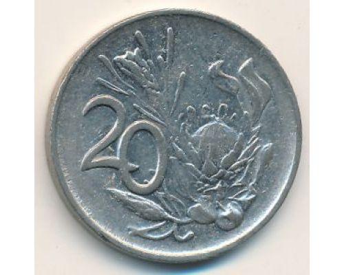 20 центов 1984 год ЮАР