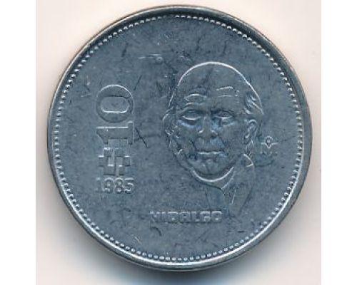 10 песо 1985 год Мексика