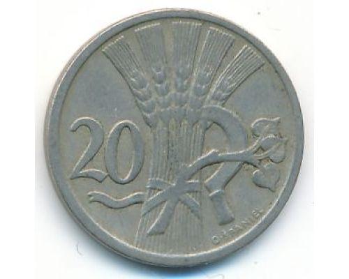 20 гелеров 1922 год Чехословакия Состояние XF