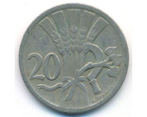 20 гелеров 1924 год Чехословакия Состояние VF