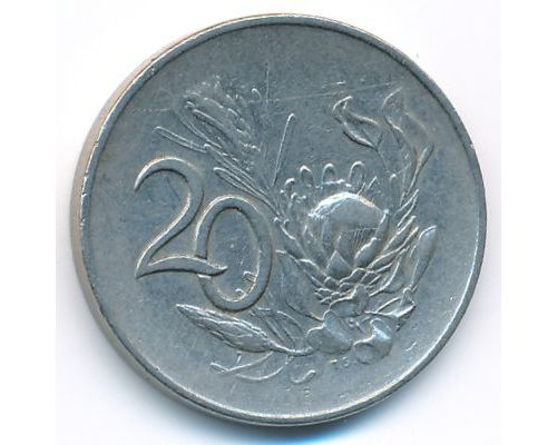 20 центов 1965 год ЮАР