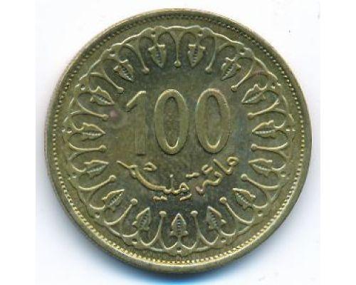 100 миллим 2013 год Тунис