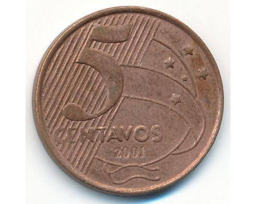 5 сентаво 2001 год Бразилия