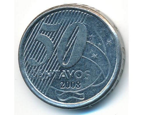 50 сентаво 2008 год Бразилия