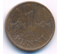 1 пенни 1969 года Финляндия