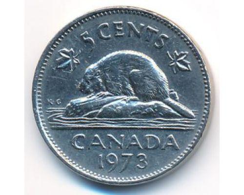 5 центов 1973 год Канада
