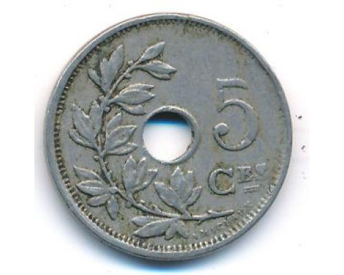 5 сентим 1920 год Бельгия BELGIQUE