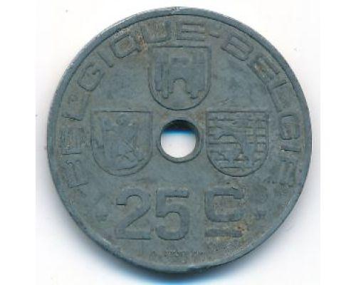 25 сентим 1942 год Бельгия BELGIQUE-BELGIE