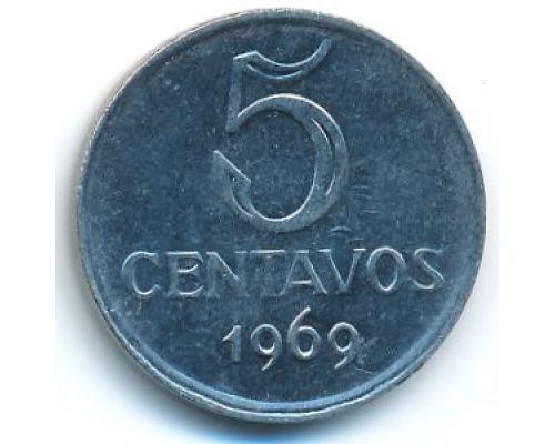 5 сентаво 1969 год Бразилия