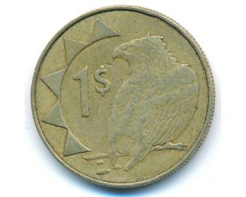1 доллар 1996 год Намибия Орел-скоморох