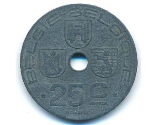 25 сентим 1943 год Бельгия BELGIE-BELGIQUE состояние VF